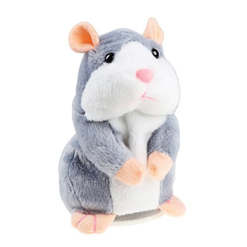 Interactive Talking Hamster Plush Toy, Repeat What You Say Funny Kids Stuffed Toys, Electronic Pet Talking Buddy Mouse for Valentine's Day, Birthday Gift Kids Early Learning