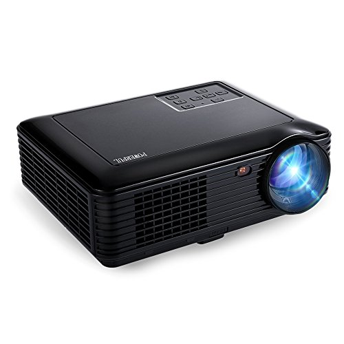 HD Beamer Joyhero Heimkino Multimedia-Projektor 2000 Lumen LCD-Projektor Full HD 1280 x 800 Pixel Home Cinema 1080p Unterstützung HDMI USB VGA AV TV (schwarz)