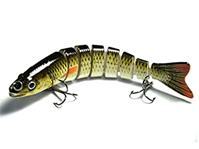 Supertrip TM Life-like Fishing Lures 5/8-Ounce 5-Inch 8 Segment Multi Jointed Swimbait Lures Hard Bait Crankbaits Baits by Guangzhou Supertrip Network Technology CO., LTD