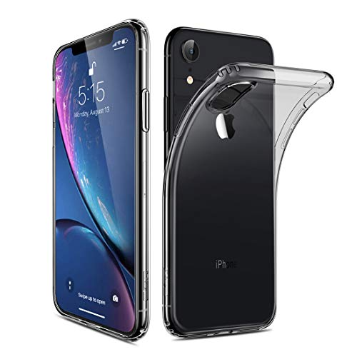JIGE: JIGE: Ultradünne stoßfeste, weiche TPU-Hülle der ESR Essential Zero-Serie für iPhone XR (Schwarz) (Color : Black)
