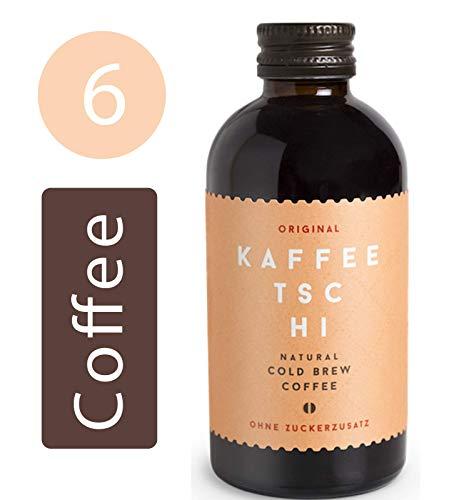 Kaffeetschi Bio Original Cold Brew Coffee - Natürlicher Kaffee Energy Drink Ohne Zucker - Vegan, Glutenfrei, Koffeinhaltig - 6x200ml