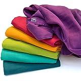 divata - Mussole per Neonato, 80x80cm - Panni Quadrati di Garza | Asciugamani per Bambini, Copertine per Carrozzina o Culla, mussola colorate