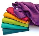 ❤ divata Bunte Baby Spucktücher (Regenbogen, 6er Set, 80x80 cm) - Farbige Mullwindeln, Mulltücher | 100% Baumwolle, Oeko-Tex-Zertifiziert