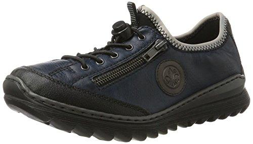 Rieker Damen M6269 Sneaker Blau (schwarz/navy/graphit/schwarz)