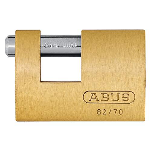 ABUS Messing-Vorhangschloss Monoblock 82/70 11491