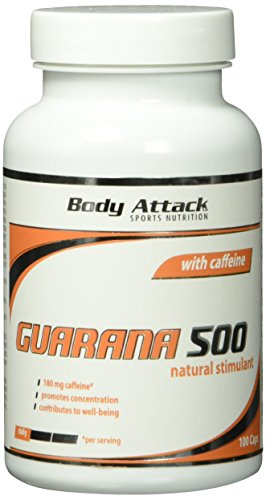 Body Attack Guarana 500, 100 Kapseln, 1er Pack (1 x 60 g)