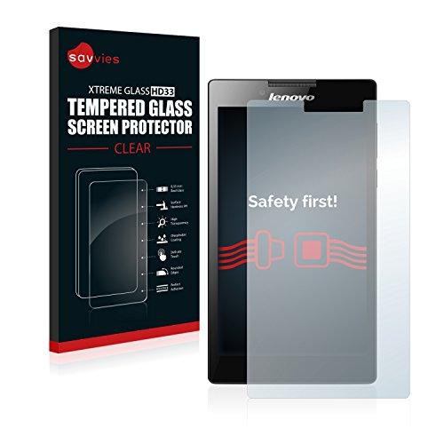 Savvies Panzerglas Schutzfolie kompatibel mit Lenovo Tab 2 A7-20 Echt-Glas Panzerglasfolie mit 9H Härte, Anti-Fingerprint
