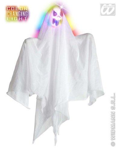 Schillernder Geist mit Leuchtfunktion Halloween Hänge-Deko weiss 40x58x5cm (Ideen Kostüme Für Erwachsene Zu Hause)