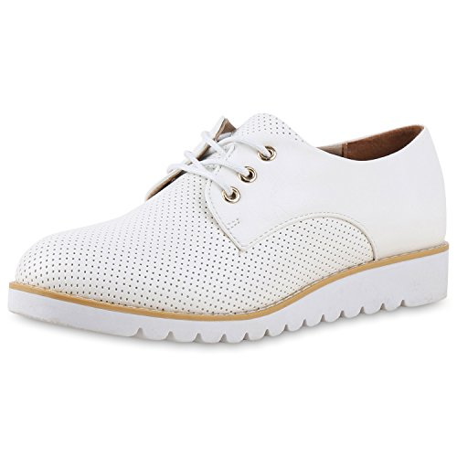 Damen Halbschuhe Dandy Style Brogues Profilsohle High Fashion Jennika