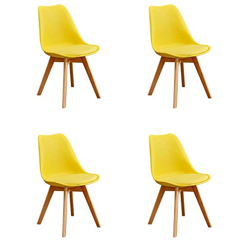 GroBKau Set of 4 YJX Chairs, 4 Colors