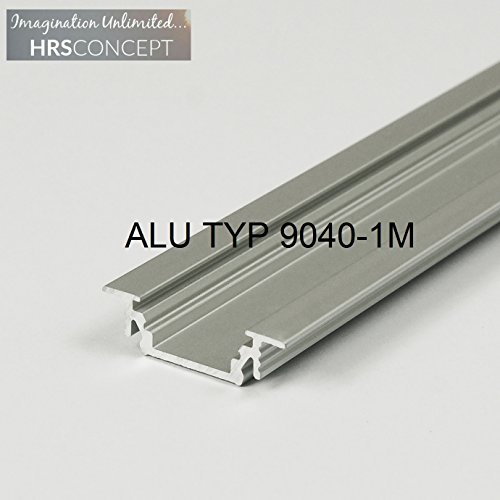 Licht Halogen-unterschrank-streifen (LED Alu Profil Leiste für LED Streifen / ALU TYP 9040 1M OPAL / HELITEC Aluminium Abdeckung Profil Streifen Schiene für LED-Strip Streifen Band)