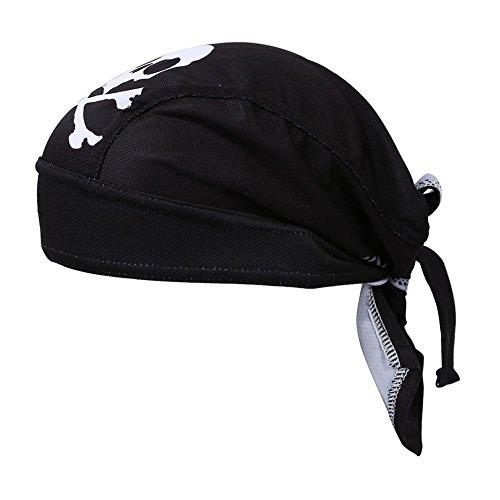 TOOGOO(R)Nuevo Ciclismo Negro Bicicleta Deportes al aire libre Bandana Pirata Casquillo Sombrero