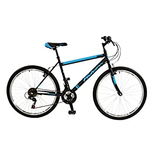 "FalconEvolve 2016 Unisex Mountain Bike Blue/Grey, 19"" inch steel frame, 18 speed powerful front and rear steel v-brakes deep section alloy rims"