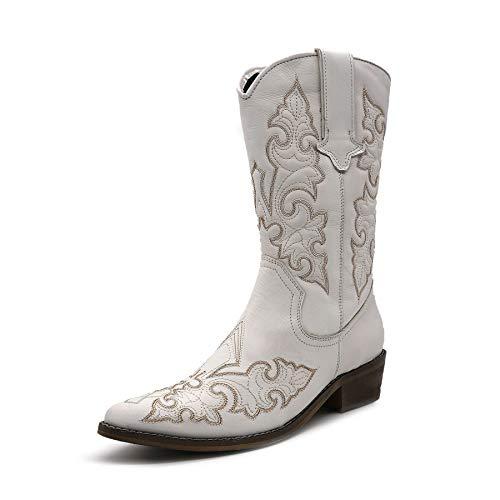 Kick Footwear - Botas para Mujer, Color Blanco, Talla 42