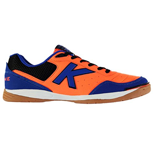 Kelme K Strong Indoor Court Hommes Chaussures Baskets Football Sport Sneakers Orange/Bleu/Noir
