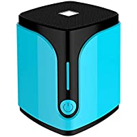 Mini Portable Bluetooth 4.0 Lautsprecher((3,5 mm Audio, Mikrofon, Micro SD Karte Slot) (Blue)