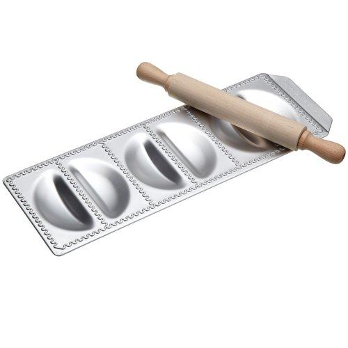 Galleria fotografica G S D Haushaltsgeräte 29 008 - Stampo per ravioli Ravioli Sorrisi con mattarello