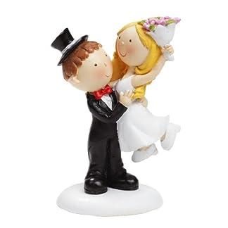 Boda Par con ramo de flores boda Figura decorativa Novios 9cm