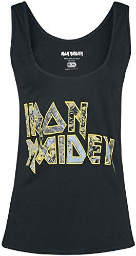 Iron Maiden Eddie Logo Top Mujer Negro M