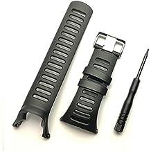 Correa para reloj de goma suave, color negro, repuesto, con herramienta y tornillos para SUUNTO Ambit 3 PEAK/Ambit 2/1