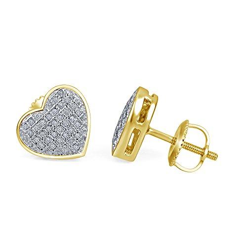 Lilu Superb gioielli da donna in oro 14 k con diamanti, a forma di cuore, (Superb Gioiello)