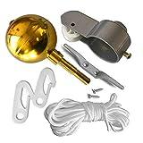 Sheng L'Oro Sfera Rotonda Tacchetto Viti Yard Clip di Riparazione del Giardino della casa Pennone Kit di Accessori Carrucola Corda