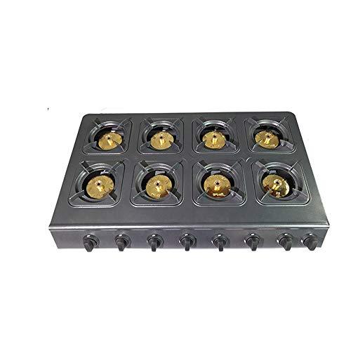 YXS Premium-Gasherd 35 Zoll 8-Brenner Gas-Kochfeld Kochfeld Kochfeld, LPG/NG Dual Fuel, Restaurant Anlagen für Suppen, Saucen, leicht zu reinigen, hohe Leistung, Gute Qualität -