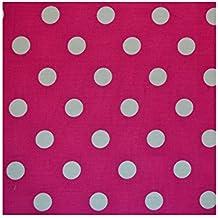 Color rosa claro 7mm diseño de lunares algodón tela–se vende por metro
