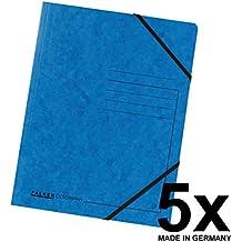25 FALKEN Eckspannmappen A4 blau