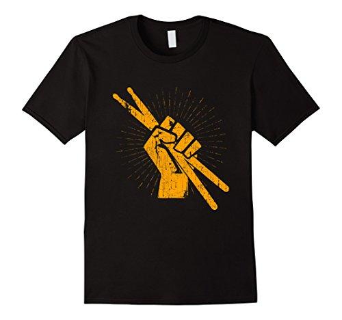 Drummer Drum Sticks T shirt Percussion Lover Rock Gifts Tee Herren, Größe M Schwarz
