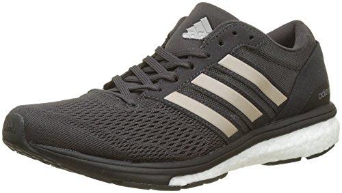 adidas Damen Adizero Boston 6 Laufschuhe, Schwarz (Utility Black F16/Platin Met.S16/Core Black), 42 EU (Stabilität 6 Laufschuh Ultimative)