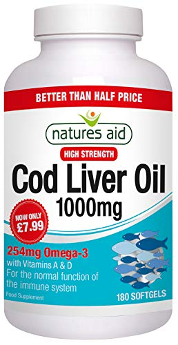Natures Aid Promotional Packs CLO 1000mg 90 Capsules 50% extra fill -