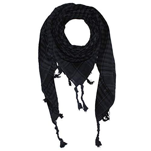 Superfreak Palituch - einfach gewebt grau-dunkelgrau - schwarz - 100x100 cm - Pali Palästinenser Arafat Tuch - 100{77a41921e1a742da7aa88de33fc5fe6e02f90097deecf993c956ec8c5e61c5f9} Baumwolle