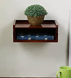 Wooden Wall Hanging Design Shelf Utility Box Stand