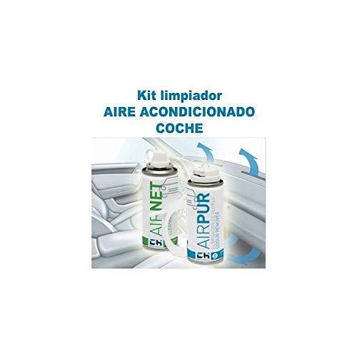 REPORSHOP - Airnet + Airpur LimpiadorEliminador Olores En Sistemas Aire Acondicionado Coche