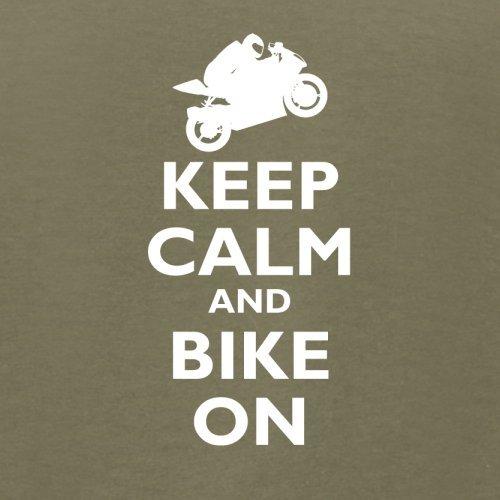 Keep Calm and Bike On - Herren T-Shirt - 13 Farben Khaki