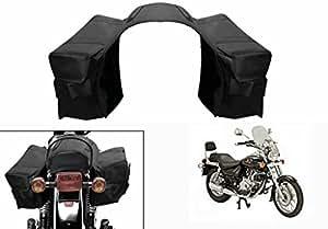 Speedwav Water Proof Bike Twin Saddle Bags Black-Bajaj Avenger 220 DTS-i