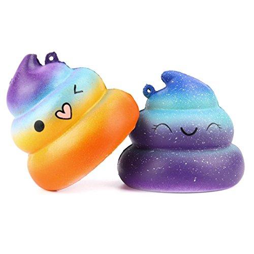 ze Spielzeug, mamum 2Exquisite Fun Crazy Poo Duft Squishy Charm Slow Rising Simulation Kid Spielzeug (Baby Fußabdruck Cutter)