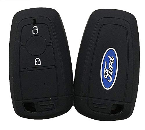 PRASOUM FLYCONN-Superb Silicone Smart Key Cover for New Ford Ecosport