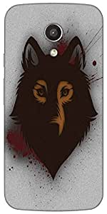 Snoogg Bold Wolf Case Cover For Motorola G / Moto G 2Nd Generation