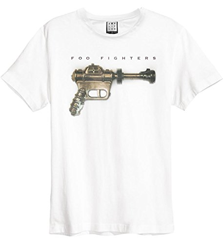 Amplified Herren FOO Fighters -Ray Gun T-Shirt, White Wh, XL