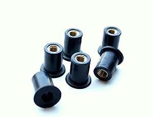 M5x (0,8mm) Écrou en caoutchouc avec insert en laiton
