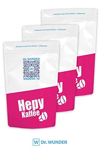 Dr. Wunder® Hepy-Einlaufkaffee 3er-Pack   3 x 250g: Grüner/Goldener Bio-Detox-Kaffee speziell für den Kaffee-Einlauf zur Leberreinigung    besonders hoher Gehalt an Koffein und Palmitinsäure