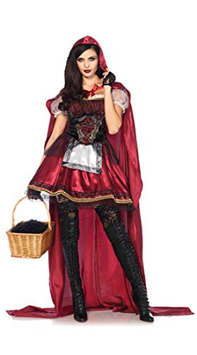 Honeystore Damen's Rotkäppchen Halloween Weihnachten Performance Kleid Hoodie Kostüm One Size Rot-04 (Kostüm Cosplay Von Assassin's Creed 4)
