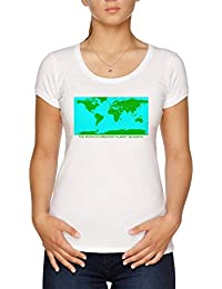 The Worlds Greatest Planet On Earth Camiseta Mujer Blanco aa777c7914526
