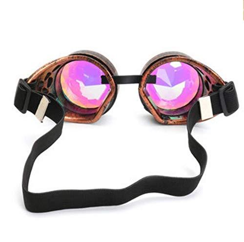 TENGGO Outdoor-Festivals Kaleidoskop Gläser Für Raves-Prism Diffraction Crystal Linsen-Rose Copper