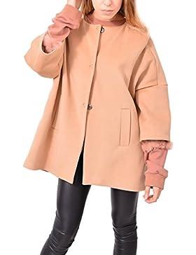 Cappotto Taupe Corean Gancetti Abbigliamento Moda Donna