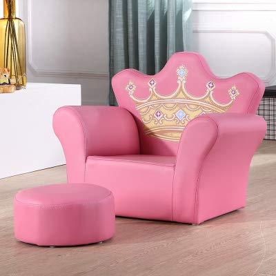 sillón infantil Sofá para niños linda niña princesa sofá para bebé sofá perezoso sofá silla sofá de dibujos animados, corona rosa amarilla