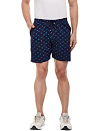 VIMAL Navy Blue Printed Shorts for Men