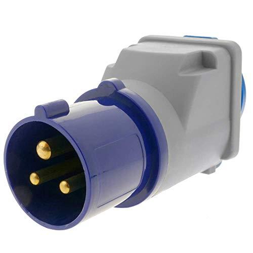 BeMatik - Adapter CETAC-Stecker an SCHUKO-Buchse 2P+T 16A 250V IP44 IEC-60309